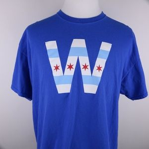 "GILDAN Chicago Cubs ""W"" T-Shirt Men's 2XL XXL MLB"